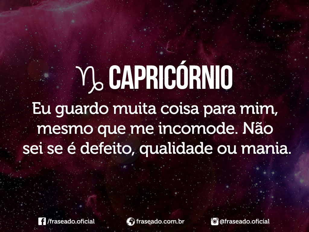 Frases Do Signo De Capricórnio 2212 A 2001 Comportamento Do